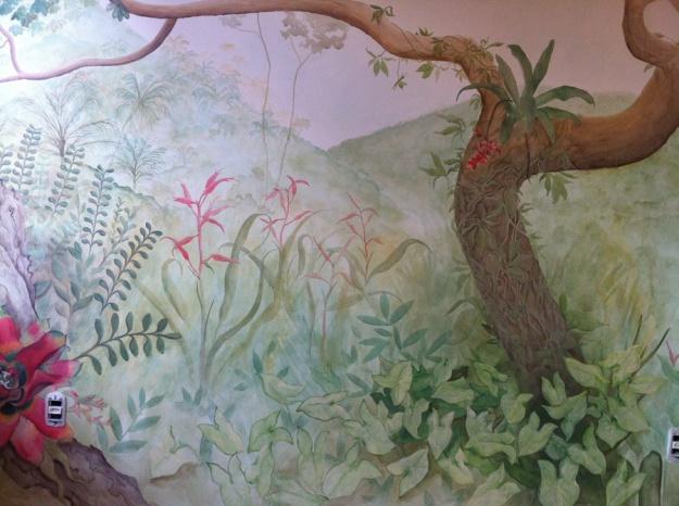 Mural naturalista para o Lar Sant'Ana.