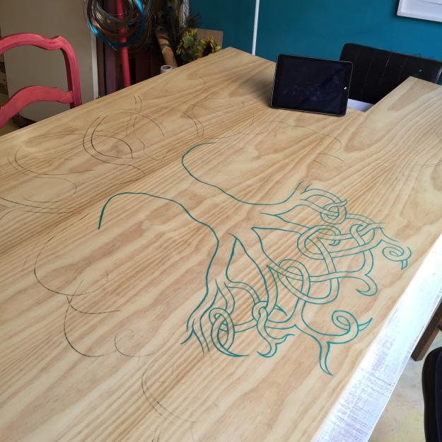 desenho sobre mesa