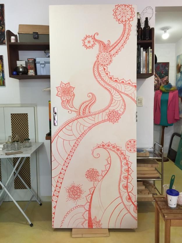 pintura decorativa tomando forma