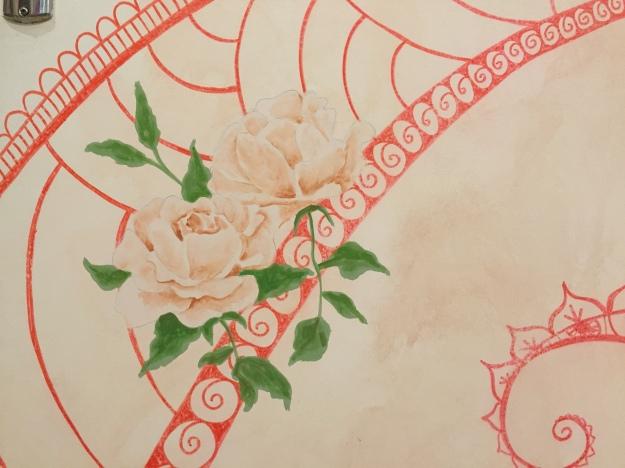 pintura de rosas e mandalas