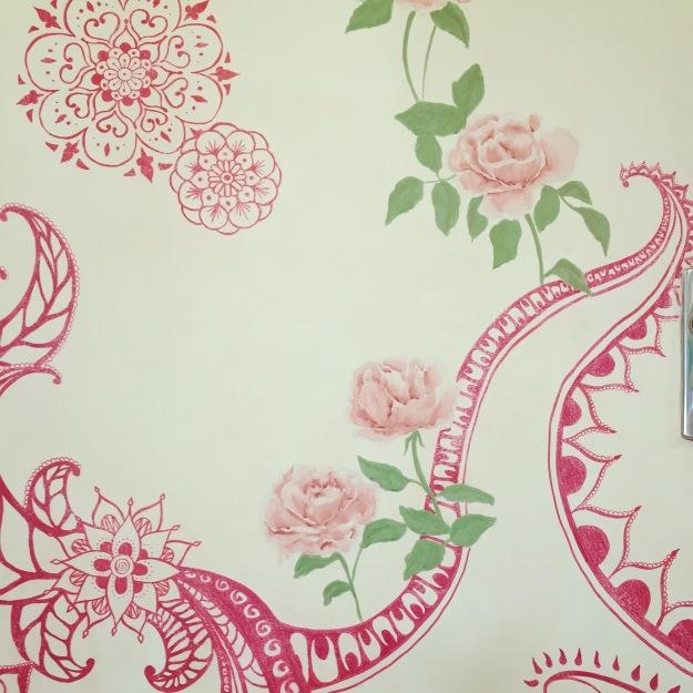 rosas e mandalas dobre porta